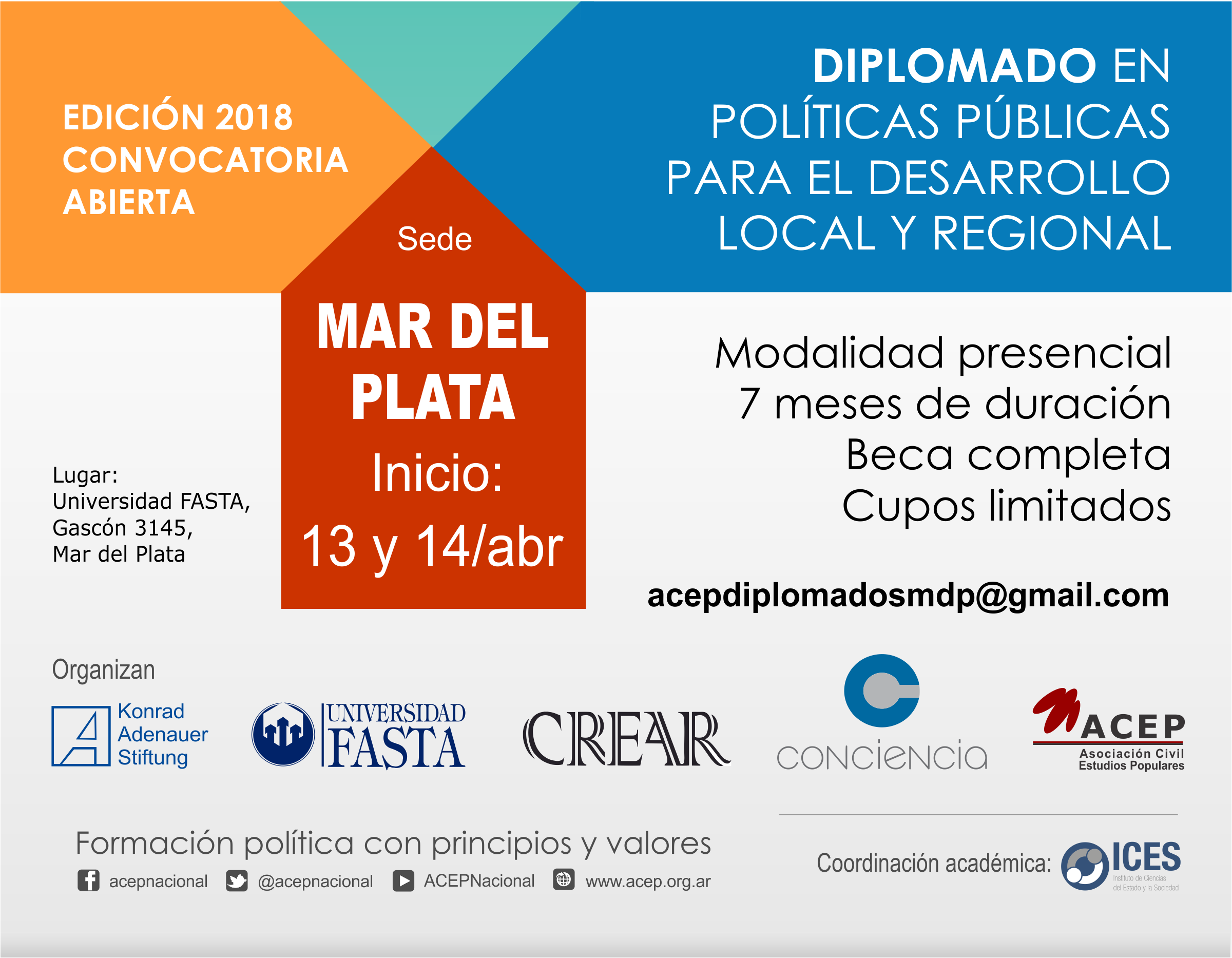 Diplomado Red KAS 2018 Flyer sede Mar del Plata